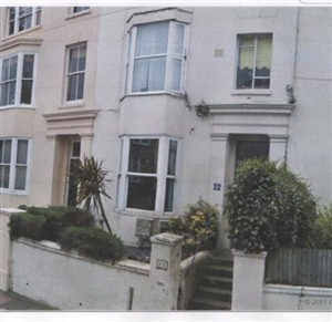 Photo:MARY ALICE BURNETT (NEE INDCOX) MARRIED J.A. BODY IN NEW YORK - 22 Buckingham Palace road Brighton as it is today. Mary Alice Burnett { nee Indcox later Body} lived here in 1881 census with her daughter Minnie (later Minnie Body)